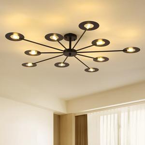 Nordic LED Chandelier Lighting for Living Room Industrial Bedroom Kitchen Hanging Lamp Indoor Home 6 8 Heads Fixture