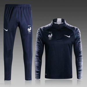 2020 FFF Survêtement MAILLOT DE FOOT Barcelone France Portugal survetement FOOTBALL 2 STAR Griezmann MBAPPE survêtements de formation LS4R