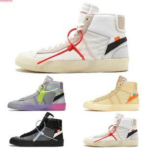 Nike Blazer The Ten OW عشرة الاصدار الجديد السترة منتصف جميع يقدس حواء قاتمة Reepers احذية بالي الفانيليا الأسود إجمالي أورانج عالية الجودة 10X الرياضة الاحذية