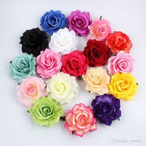 Artificial Rose flowers heads plastic fake flowers head high quality silk flowers for wedding decoration Hot