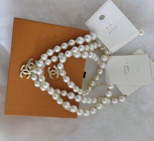 CANALE Breve Pearl catena collana donne strass Orbit G clavicola collana a catena Baroque Pearl collane del Choker per i monili del regalo delle donne