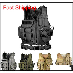 Tactical Vest Multi-Pocket Swat Army Cs Hunting Vest Camping Hiking Accessories T190920 Rvsnm