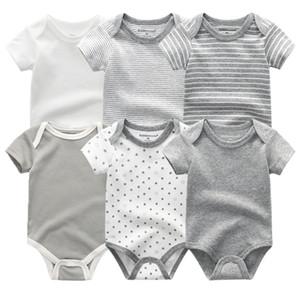 Baby Strampler Kurzarm Mädchen Kleidung Sommer Kiddiezoom Baby Wear Jumpsuits Bebe Kleidung Set, Säuglinge Produkt 201029
