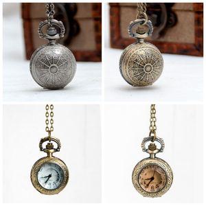 Sección de cristal Vintage Flip Bolsillo Reloj Collar Reloj de bolsillo Collar Collar Mágico Collar de bola coreana Suéter Cadena Moda Moda Reloj de cuarzo