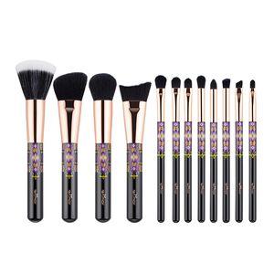 Anmor 12Pcs Soft Makeup Brushes Professional Foundation Eyeshadow Make Up Brush Set Blush Eyebrow Cosmetics Tool Kit 201008