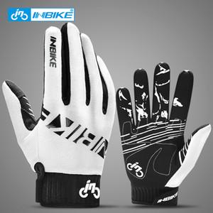 INBIKE Full Finger MTB Gloves Touch Screen Cycling Gloves Anti-slip Bicycle Gloves For Men Women Sport Motorcycle MTB Bike Glove 201019