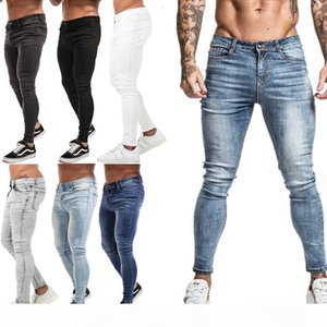Mens Skinny Jeans 2019 Super Skinny Jeans Men Non Ripped Stretch Denim Pants Elastic Waist Big Size European W36 zm01 T191019