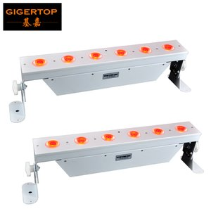 Luz do estágio especial 6x18w RGBWA + UV sem fio DMX levou uplight alimentado por bateria barra de luz LED Wall Washer para salão do disco