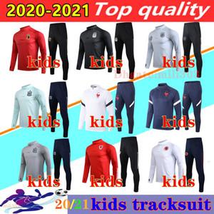 2020 2021 Испания Аргентина национальная команда дети футбол спортивный костюм 20 21 Бельгия Уэльс мальчиков футбол куртки костюм chandal Беговая наборы