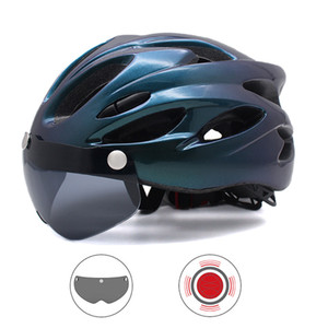 Mountain road helmets for bicycles, detachable track helmets with glasses and back lights, and cycling helmets for men
