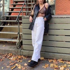 Korean jeans for women boyfriend baggy cargo jeans for women mom high waist vintage baggy casual black white