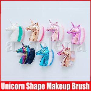 Многоцелевой Unicorn Shape Foundation Brush Blush Pro Powder Makeup Brush Kabuki Кисти для лица ногтей Макияж кисти, инструмент красоты Косметика
