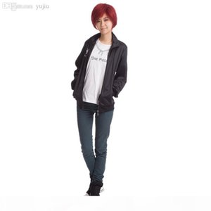 Wholesale-Japan Anime Haikyuu Cosplay Costume Karasuno High School Volleyball Club Jacket men women Unisex Perucas Black Sportswear S-2XL