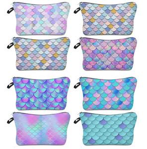 Mermaid Sequins Cosmetic Bag Woman Makeup Handbag Glitter Handbag Makeup Pouch Pencil Case Pen Bag Zipper Box
