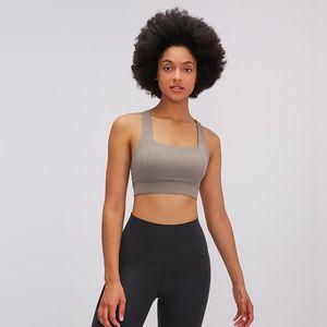 2020 New Summer Hollow Back Sports Bra Underwear Women's Shockproof Upper Support Classic Backpack Yoga Bra
