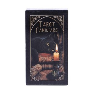 Em armazém Familiares Cartas de Tarô animal Magia Adivinhação Card Full Inglês Com Pdf Guia Game Portable Board Jogar Poker yxlesD