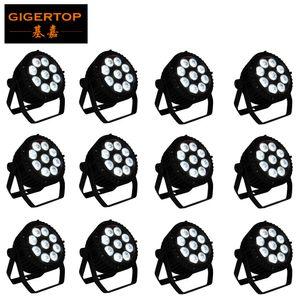 12 Adet Alüminyum Alaşım LED Par 18x18W RGBWA + UV 6in1 LED Par Can Par Led Spotlight DJ Projektör Yıkama Aydınlatma Sahne Aydınlatma Hayır Fan Hayır Gürültü