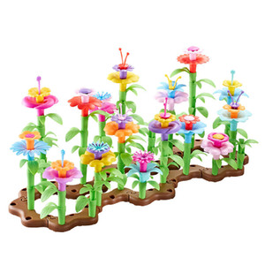 2021 Children's Toys Wholesale Early Education Puzzle Big Building Block Toy Gift Play House Children DIY Flower Arrangement Toy Girl