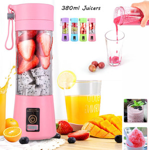 New 380ml Portable Blender Juicing Cup USB Electric Fruit Juicer Handheld Smoothie Maker Juicer Blender Mini bottiglia di sport ricaricabile