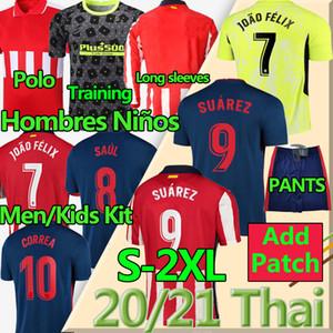Thai 20 21 João Félix Atletico Soccer Jerseys de Madrid Suarez Correa Koke Diego Costa Griezmann Camiseta de Fútbol Llorente Football Shirt