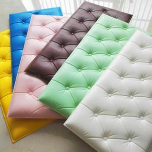 30*60cm XPE Foam DIY PU Waterproof Panels for Kids Room Self Adhesive Kindergarten Wall Stickers Home Decor DHB1430