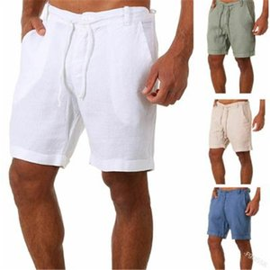 Mens Solid Color Shorts Mode Trend Reißverschluss Knöpfe Kordelzug Sports Kurze Hosen Frühling Männliche Casual Normale Jogginghose