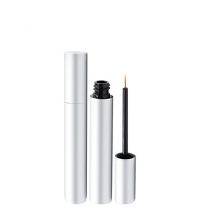 50pcs 3ml Matte Silver Mascara Eyelash Growth Serum Tubes Empty Lash Lift Liquid Eye Liner Beauty Containers Packaging Bottles