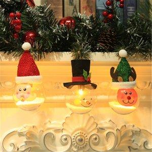 조명 볼 12월 H6 크리스마스 공 Cgjxs 장식 폼 8cm 3 개 로맨틱 유형 투명 합성 수지 클리어 지팡이 장식품 럭키