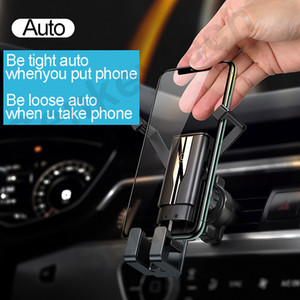 "Universal Auto Mini Gravity Car Holder Air Vent Mount Clip Retractable Phone Holder Aluminum Allo+PC+ABS for 4-7"" Phones"