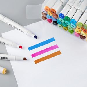 68 colori Copic Markers schizzo Painted Finecolour disegno Manga doppio-fine Dot Marcatori Pen alcool grassa Doppia Brush Bookmark Art