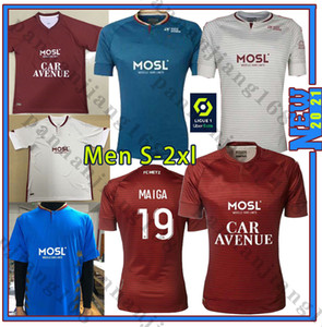 FC METZ 20 21 JERSEYS SOCCERY DIALLO 20 CENTONZE 18 VAGNER 27 NIANE 7 FOFANA 6 HOME 2020 2021 T-shirt de football en Jersey