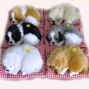 A001 Hot Cute Baby Animal Doll Plush Sleeping Dogs Stuffed Toys with Sound Kids Kawaii Christmas Birthday New Year Gift For Children