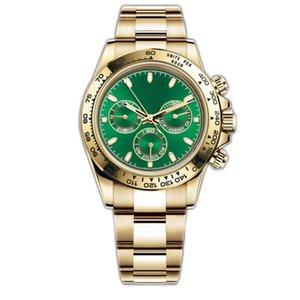 Orologio da uomo deluxe 116500LN serie orologio da polso meccanico automatico 40mm ghiera in ceramica in acciaio inox orologio luminoso moda impermeabile