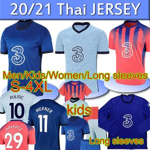 2020 2021 CFC Fútbol Polo Training Havertz Kante Werner Pulisic Ziyech Abraham Mount Football Shorts Men Kit Kit Polos Pantalones de bebé Jersey