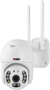 Anspo 360° Wide Angle Outdoor Security Camera, 1080P Home WiFi Camera, Smart WiFi Pan Tilt Dome Surveillance Cam, IP66 Waterproof CCTV Cam