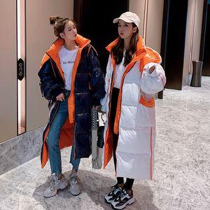 X-long Puffer Jacket Women 2020 Fashion Thicken Warm Casual Hooded Oversize Glossy Winter Female Down Coat Snowwear