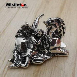 Bead Mistletoe 925 Sterling Charm Silver Angel and European Unicorn Jewelry
