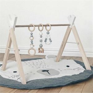 Animal Climbing Carpet Baby Play Mat Newborn Baby Soft Sleeping Cotton Pad Baby Crawling Blanket Round Carpet Toy Mat