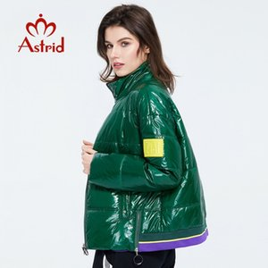 Astrid Printemps Femmes Parka manteau chaud femmes coton mince brillant couleurs court manteau Manchette permanent ZM-3073 201023