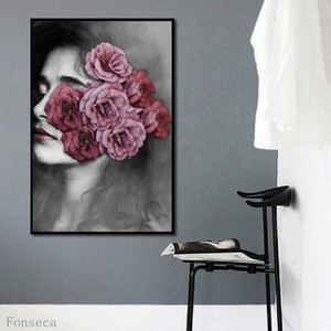 Paintings Artistic Figure Flower Poster Canvas Painting Nordic Prints Abstract Wall Pictures For Living Room Modern Fashion Home Decor1