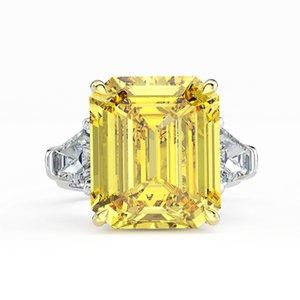 Sparkling High Carbon Diamond Anneaux de mariage pour femmes 100% 925 Sterling Argent créé Moissanite Fine Bijoux Fine Grossiste
