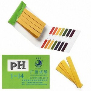 Wholesale-2016 Hot Sale New Arrival New 80 Strips Full Range pH Alkaline Acid 1-14 Test Paper Water Litmus Testing Kit A78Z gKUc#