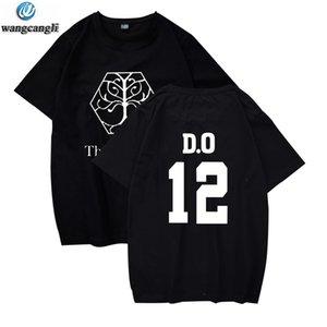 """Exo Planet 4"""" Konzert kpop T-Shirt mit kurzen Hosen Frauen / Männer karjuku T-Shirt Art der Frauen entspannt Top-Exo-Fans t"""