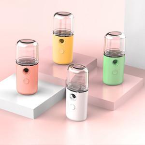 USB de charge Humidifier Pulvérisateur Macaron Nano portable visage Steamer Hydratante Soins de la peau de vapeur hydratant Humidificador froid Vaporisateur GWB2443
