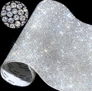 Folha auto-adesivo Rhinestone etiqueta fita de cristal com Gum Casos de diamante DIY Decoração Cars Telefone Cups Acessórios 20 * 24 centímetros GWF2509