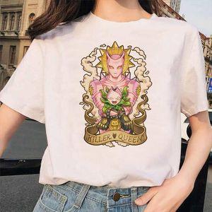 JoJo Bizarre Adventure Funny T shirts for Man woman Japan Anime Printed Tshirt Casual Jojo T Shirt Hip Hop Top Tees female