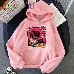 JoJo Bizarre Adventure Hoodie Japanese Anime Men women Funny Sweatshirt Harajuku Cartoon Hip Hop Vintage Clothes Male Hooded X1022