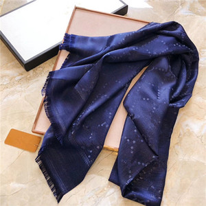 Высококачественный шарф для женщин Письмо шаблон шерстяной шелковый шарф четыре сезона шарфы размером 180x70см нет коробки