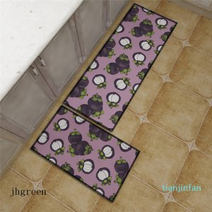 Cute Fruit Pattern Carpet Long Kitchen Mat Doormat Non-slip Bathroom Carpet 3D Print Hallway Mat Washable Shower Carpet Foot Rug