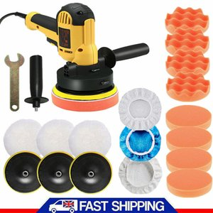 "5"" Rotary Car Polisher Buffer Sander Polishing Machine Bonnet Kit Buffing Pad UK"